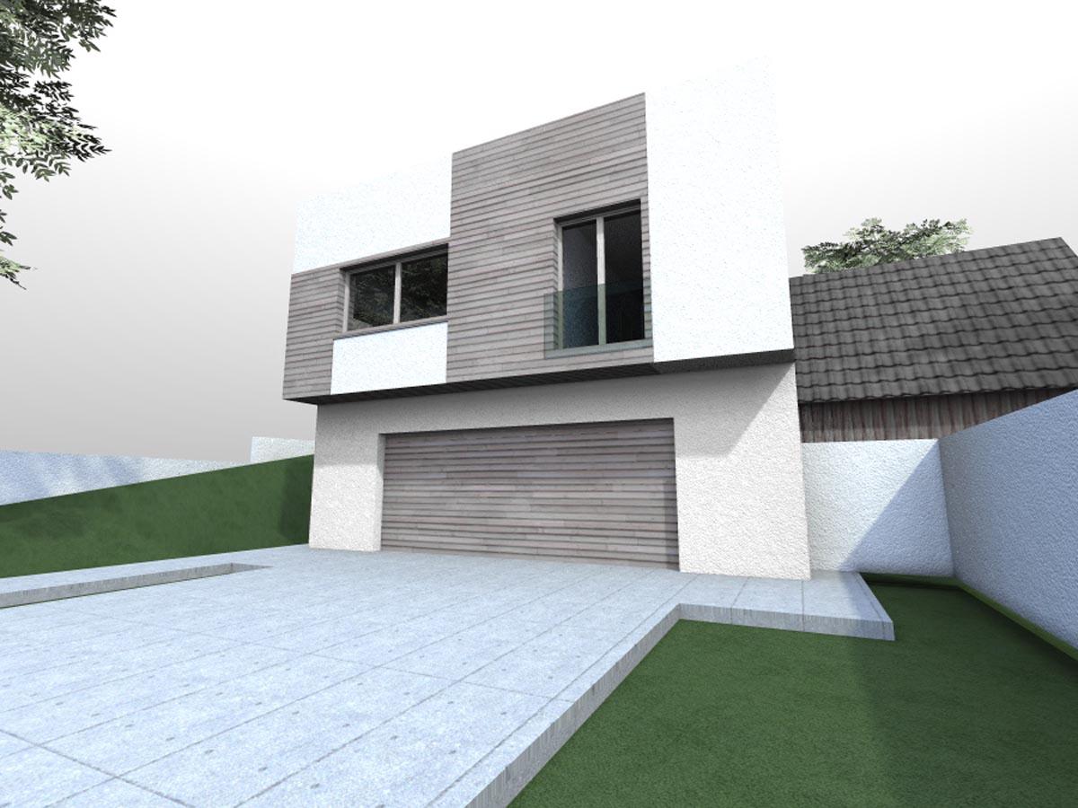 Projekt domu vo svahu