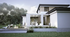 šikmá strecha - moderné domy
