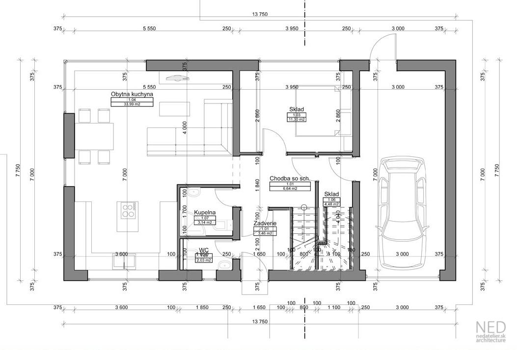 Projekt rodinného domu KLU