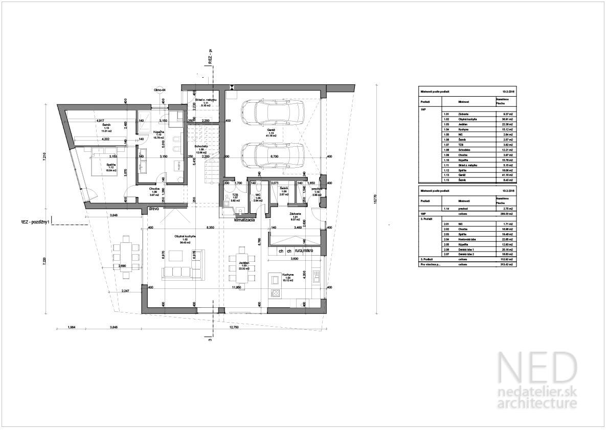 Projekt domu PRI Praha