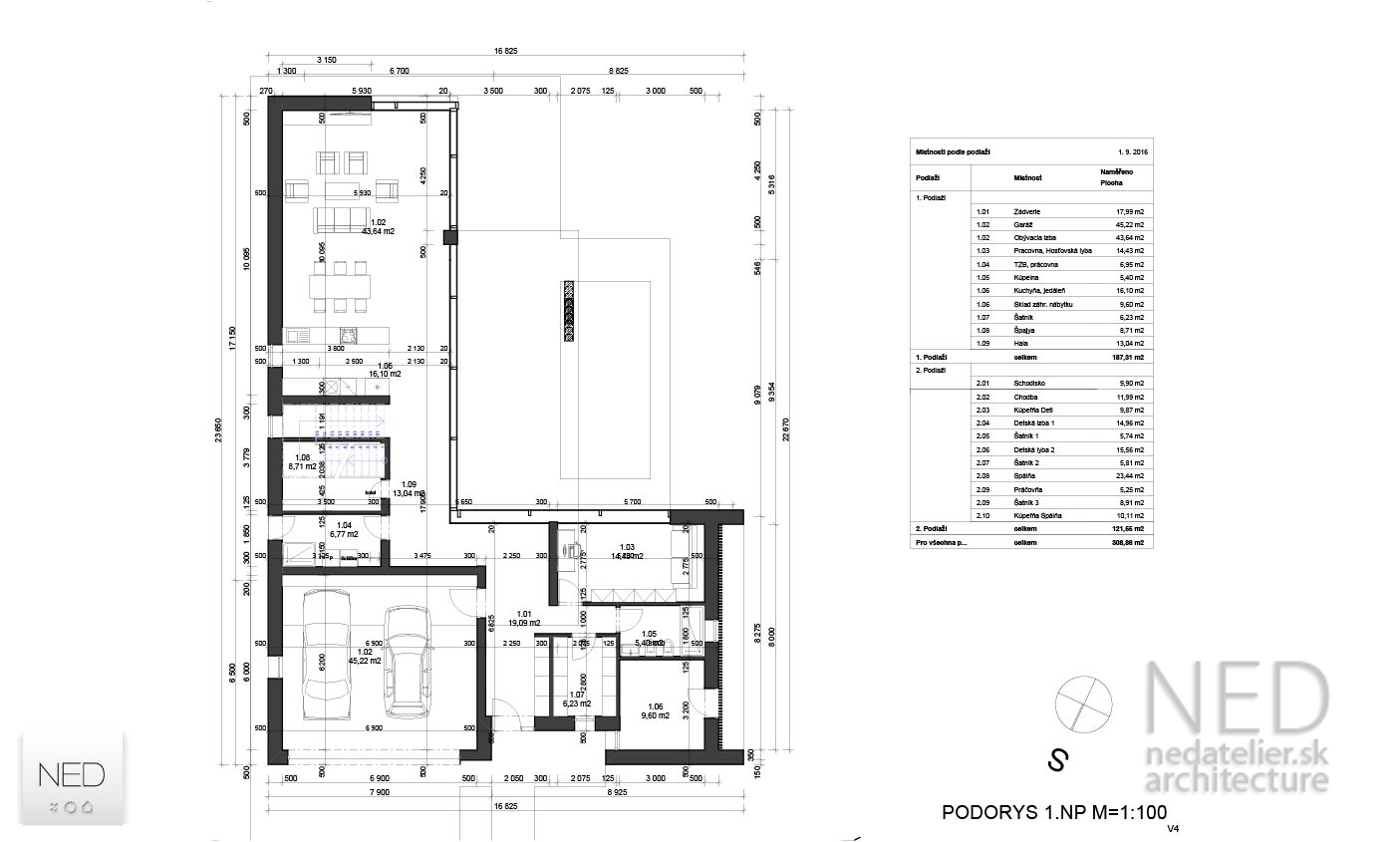 Projekt rodinného domu POD