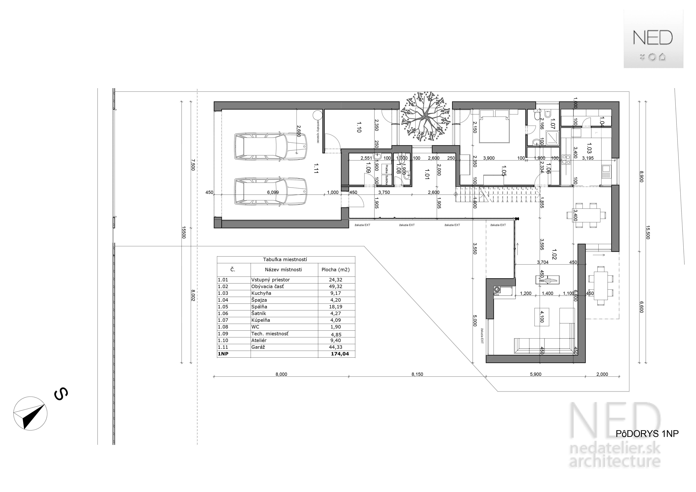 Projekt domu HAK