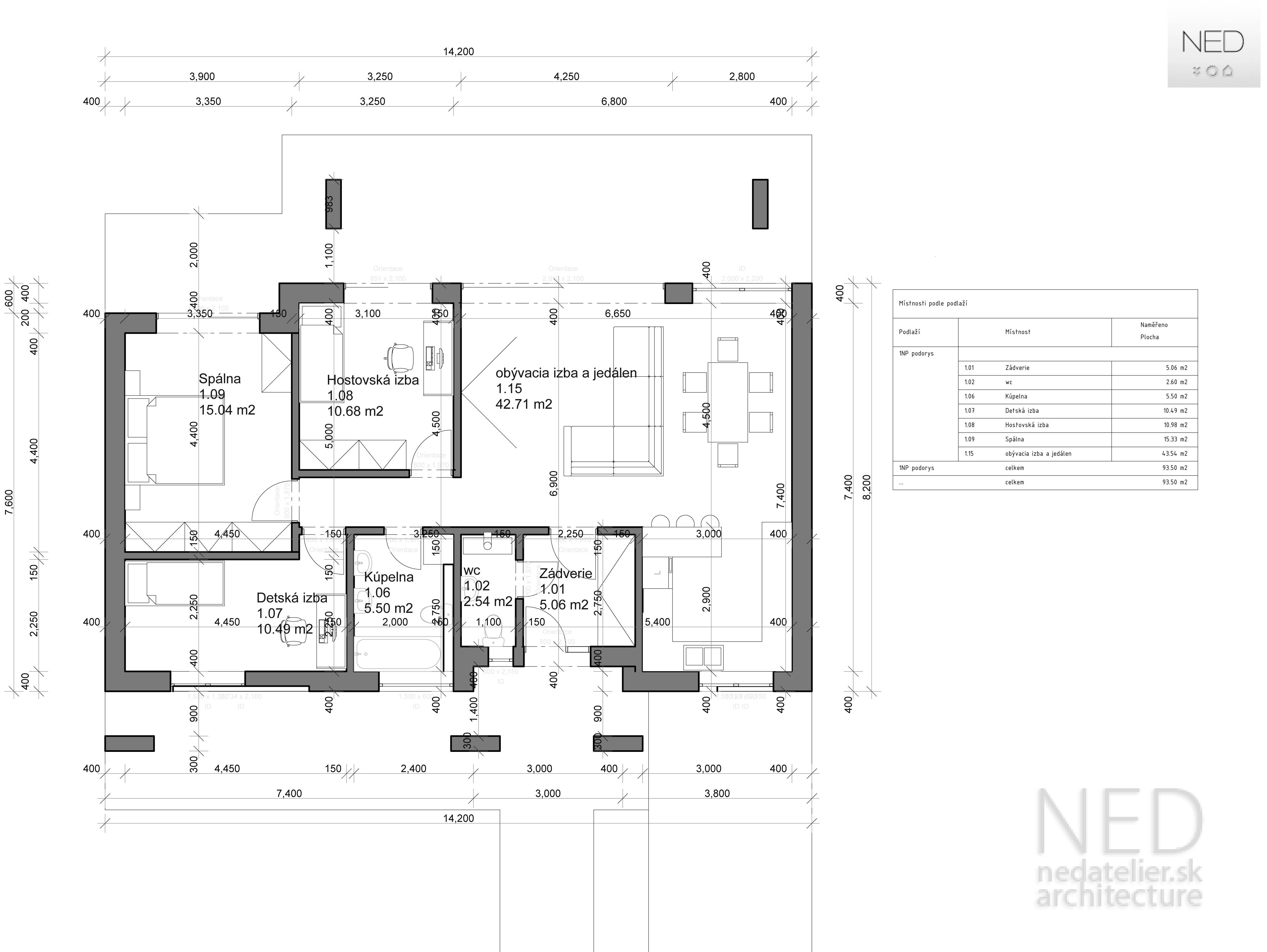Projekt domu ZEL