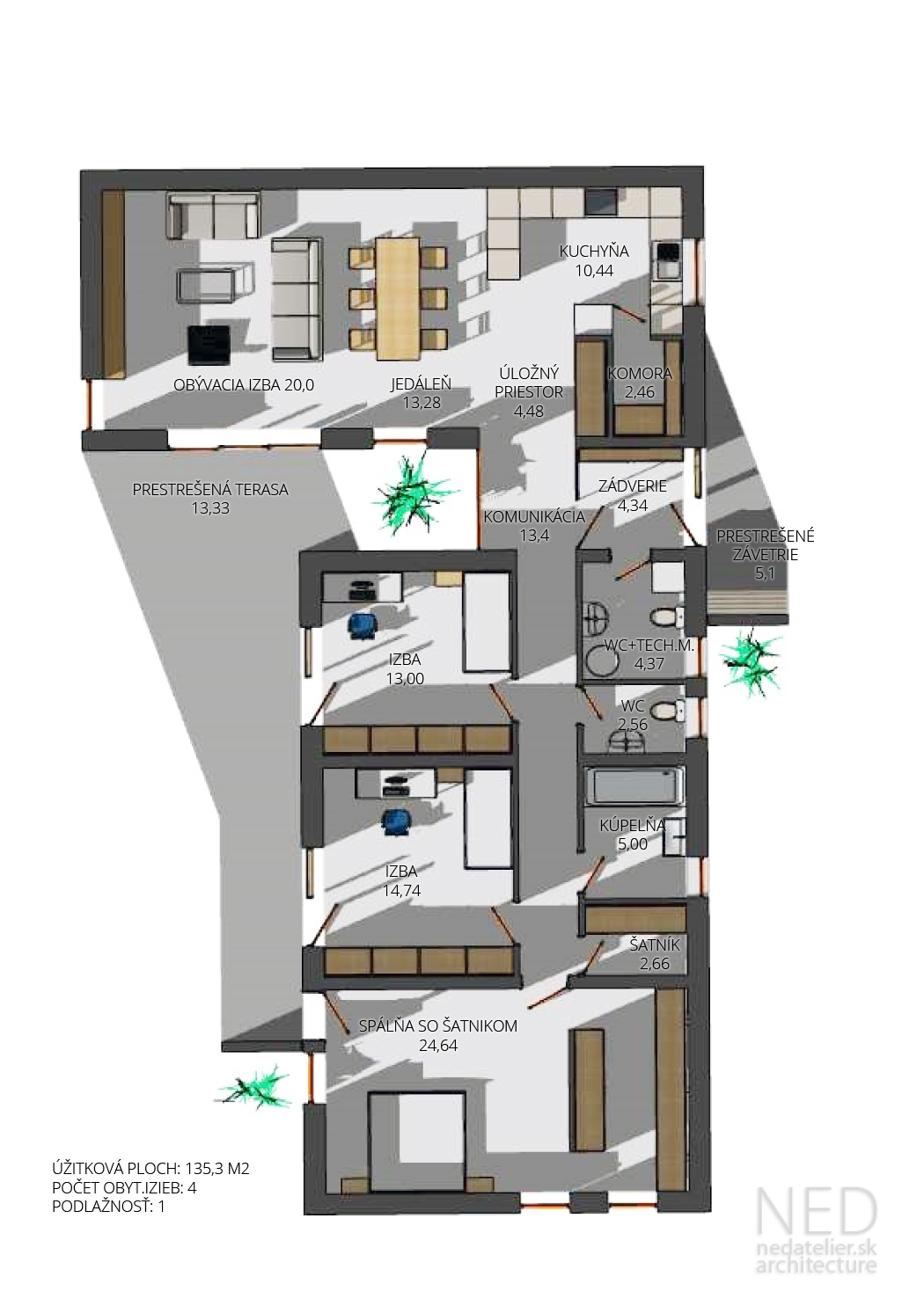 Moderný bungalov BAS
