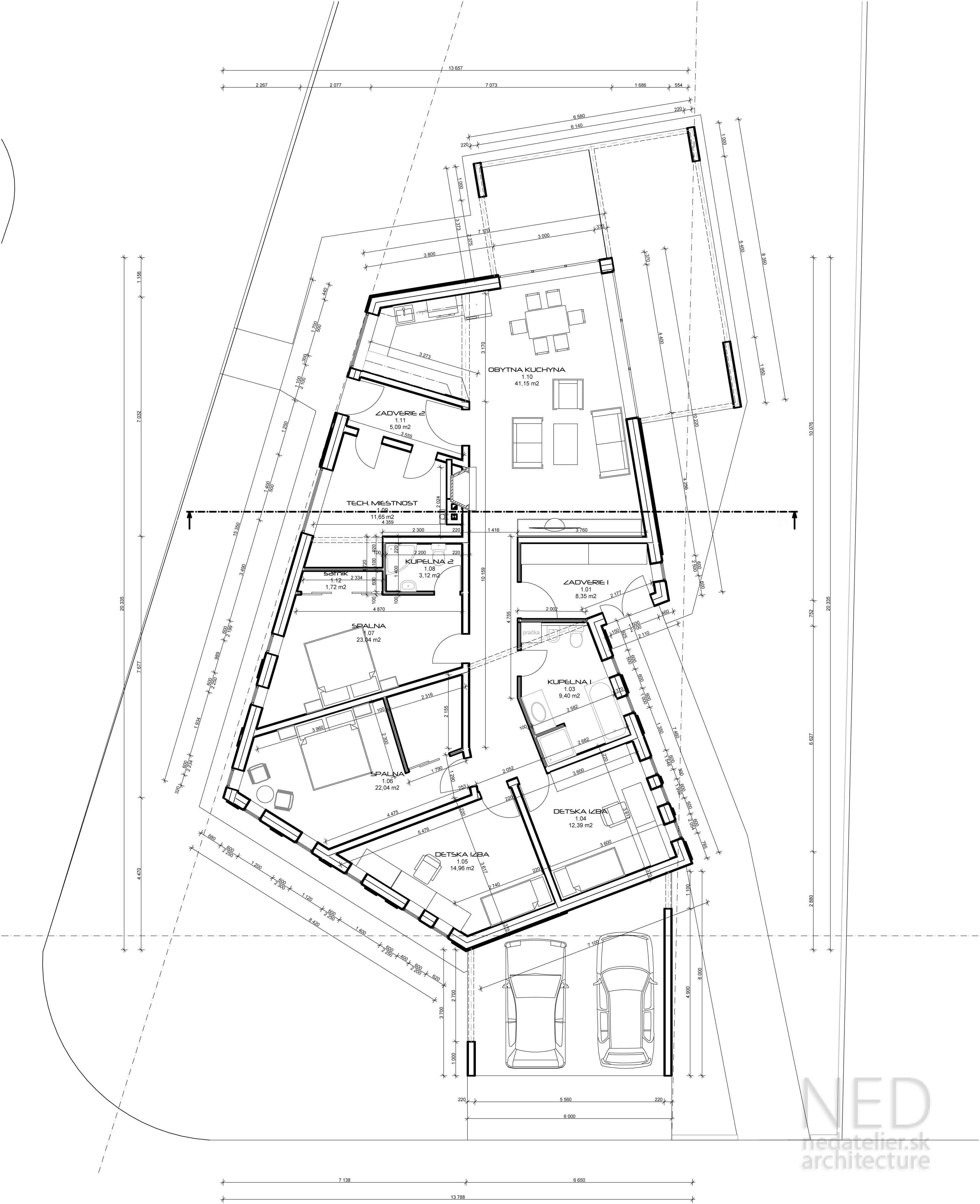 Projekt moderného bungalovu GET