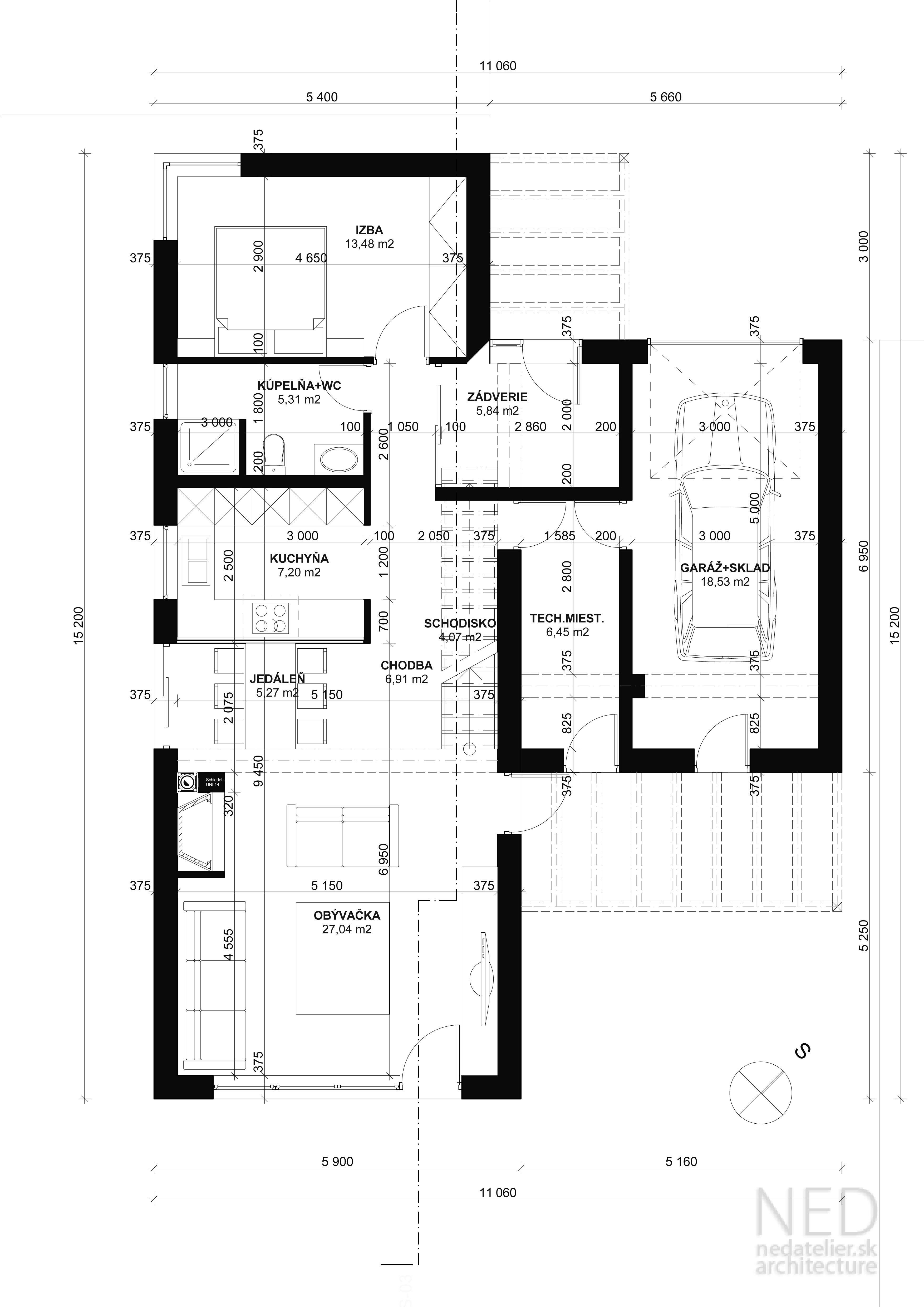 Projekt moderného rodinného domu NOR