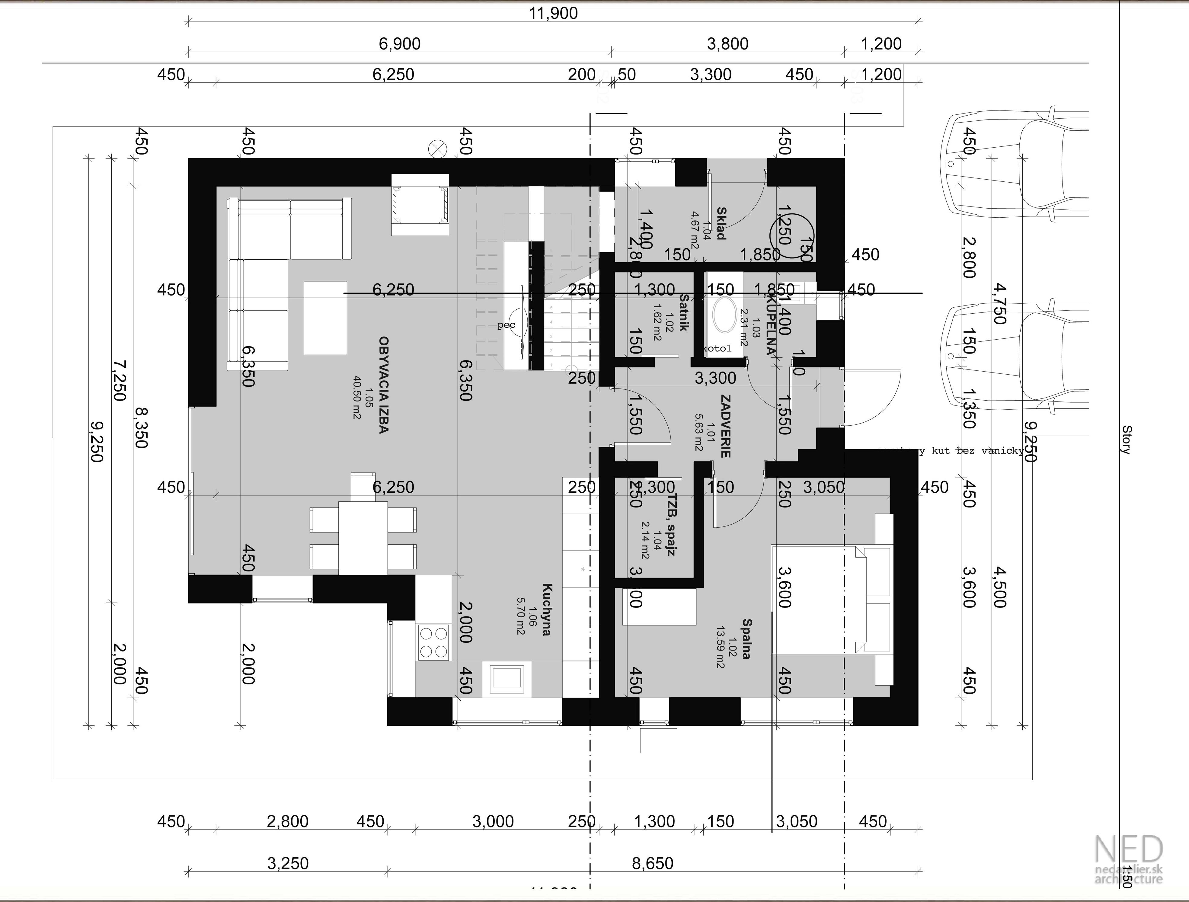 Projekt rodinného domu REP
