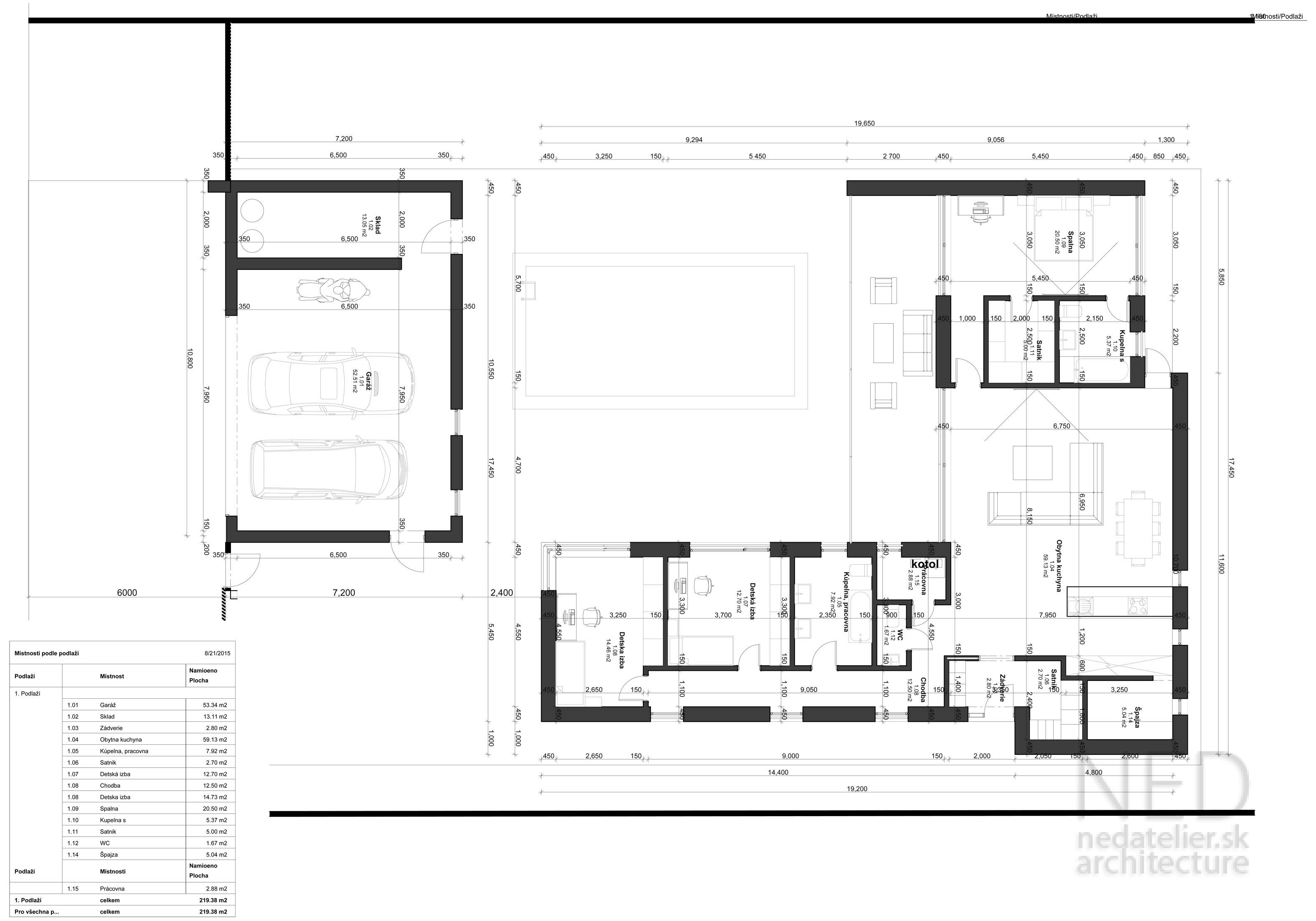 Projekt domu Nitra SHA