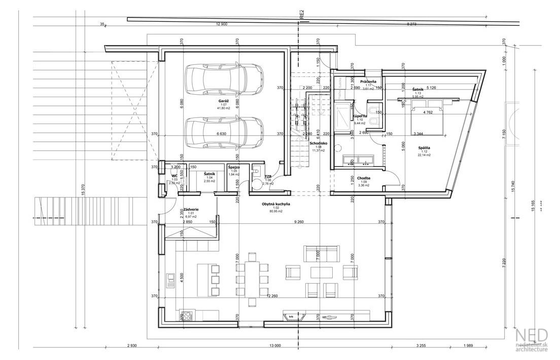 Projekt domu – moderný rodinný dom TRET